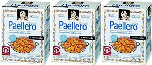 Carmencita Paella Gewürz Für Traditionelle Paella 60 g 15 sachets - [Pack 3]