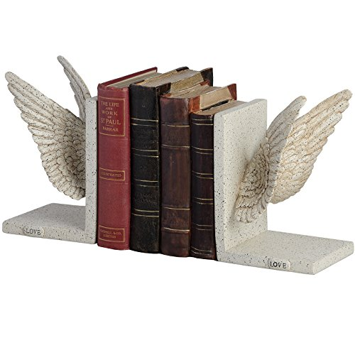 antique-white-angel-wing-love-bookends-office-study-bookcase-book-ends