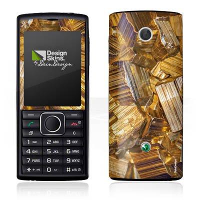 DeinDesign Sony Ericsson Cedar Case Skin Sticker aus Vinyl-Folie Aufkleber Gold Edelstein Schmuck