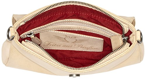 Fritzi aus Preußen FaP-HW-16-93 - Borsa con Maniglia Donna, 25x18x4 cm Beige (Cyclam-Si)