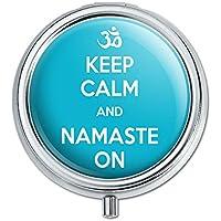 Keep Calm und Namaste Auf Yoga Pille Fall Schmuckkästchen Geschenk-Box preisvergleich bei billige-tabletten.eu