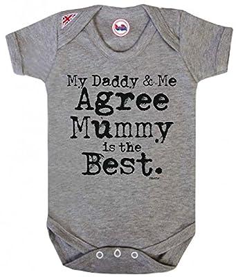 Daddy & Me Agree MUMMY Is Best Jungen/Mädchen Unisex Baby Grow Strampler By BritTot
