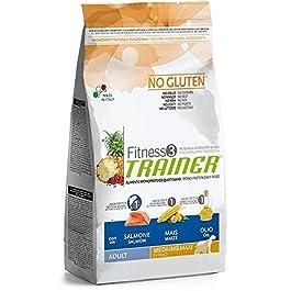 Trainer Natural NovaFoods Cibo per Cani Fitness 3 Adult Medium Maxi Salmon&Maize 12,5KG – 12500 gr