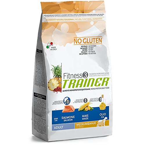 Trainer Natural NovaFoods Cibo per Cani Fitness 3 Adult Medium Maxi Salmon&Maize 12,5KG – 12500 gr