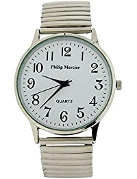 Philip Mercier Gents Silvertone Expander Bracelet Strap Dress Watch MC56C