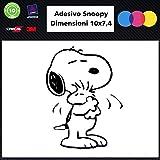Snoopy 007Auto Aufkleber Schwarz