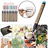 TAOtTAO 2PC Metallic Marker Paints Pens Art Glasfarbe Schreiben Marker DIY Card Making