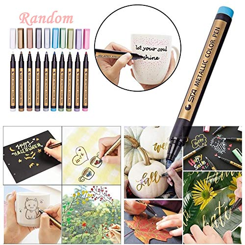 Twin Tube Wand (TAOtTAO 2PC Metallic Marker Paints Pens Art Glasfarbe Schreiben Marker DIY Card Making)