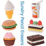 Cute Pencil Rubber Eraser Stationery Ice Cream Cake Kid Fun Toy