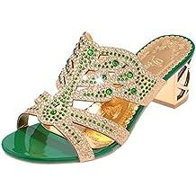 9625b6090ca74 PAOLIAN Sandalias y Chanclas para Mujer Verano 2018 Zapatos de Plataforma  Moda Chanclas con Diamante Open