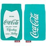 Original Coca Cola Universal Sock Pouch TürkisBlau Retail Pack Suitable For Wiko Kite 4G