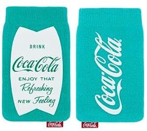 Original Coca Cola Universal Sock Pouch Case Cover Tasche Hülle Schutzhülle Türkis Blau Einzelhandel Pack Geeignet Für Samsung I9190 Galaxy S4 Mini