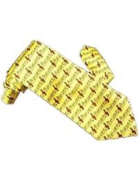 jaunes notes de musique de cravate des hommes