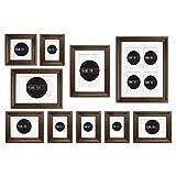 feeby Frames en bois multi Cadre avec le blanc passe-partout 12–2D Canada marron