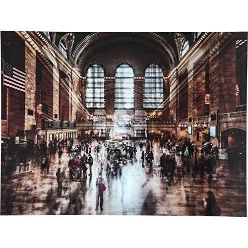 Kare Design Bild Glas Grand Central Station 120x160cm Mehrfarbig 160 120 4 160 x 4 x 120 Bild Glas Grand Central Station 120x160cm Glas