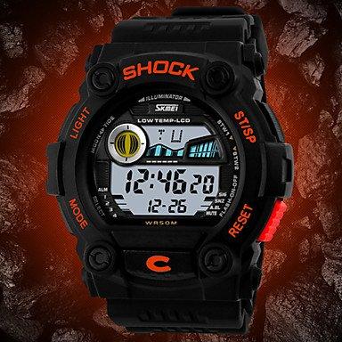 Fenkoo Herren Armbanduhr digital LCD / Kalender / Chronograph / Wasserdicht Caucho Band Schwarz Marke- SKMEI
