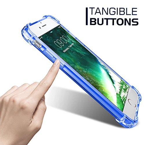 "First2savvv bleu iPhone 7 Plus 5.5"" Absorbant les chocs Coque Housse Silicone Case Cover Transparent Crystal Clair Soft Gel TPU -XJPJ-I7-5.5-B03 bleu"