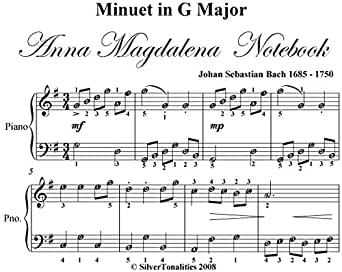 Minuet In G Major Anna Magdalena Notebook BWV Anh 116 Easy
