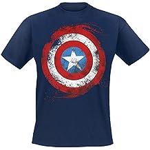 2XL De T-Shirt De Marvel Captain America Bouclier [Importación Francesa]