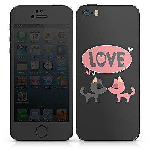 Apple iPhone SE Case Skin Sticker aus Vinyl-Folie Aufkleber Love Spruch Küssen DesignSkins® glänzend