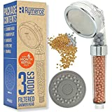 Ionic Shower Head Handheld Replacement - with Refill 3 Modes 3way Function - Adjustable Filter Bead Hard Water Boost Water Pr