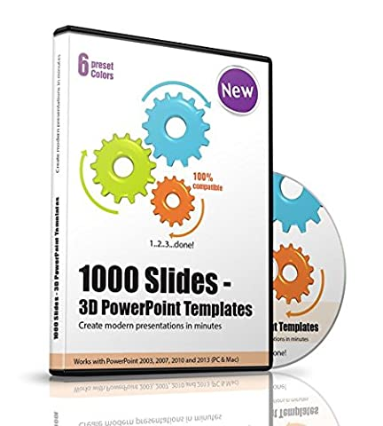 1000 Slides - 3D PowerPoint Templates: Over 1000 PowerPoint 3D