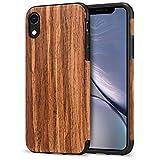 TENDLIN Coque iPhone XR avec Bois et TPU Silicone Hybrid Souple Coque Compatible avec...