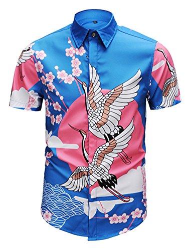 75812901fcd129 PIZOFF Herren Hemd, kurzärmelig, luxuriös Bedruckt - - Klein