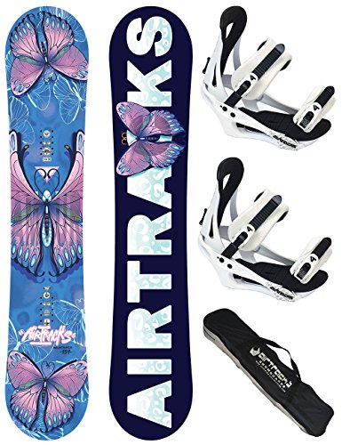 AIRTRACKS DAMEN SNOWBOARD SET / AMOUR LADY SNOWBOARD + BINDUNG SAVAGE W + SB BAG / 144 148 151 / cm