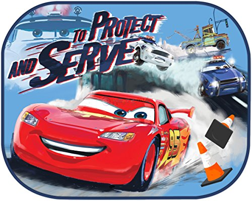 Image of Disney Cars 'To Protect & Serve' Design Folding Car Sunshades/Sunblinds 2 Pack Sun Shades