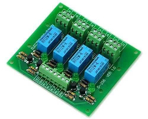 Electronics-Salon vier DPDT Signal-Relais Board, 12 V-version. Signal-relais
