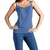 Homebaby Canotte Donna Eleganti Maglietta di Cotone Donna Estiva Modo T-Shirt Sportive Gilet Camicetta Canotte Senza Maniche Crop Tank Top Casuale Corto Loose Blusa