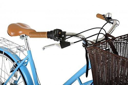 "51ZRjDJ2HWL - Classic Heritage Ladies 26"" Wheel 7 Speed 16"" Traditional Bike Bicycle Blue"
