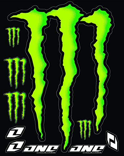 KIT STICKERS ADESIVI MONSTER SPONSOR MOTO HONDA YAMAHA KTM CROSS ENDURO CASCO (46)
