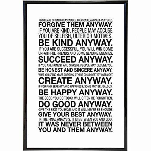 YCOLLC Wanddekoration Malerei Motivational Life Quote Leinwanddruck Malerei Poster Wandbilder Für Schlafzimmer Dekoration Wand-dekor Kein Rahmen