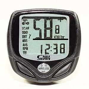 Sans fil LCD pour Vélo Bicyclette Odomètre Ordinateur informatique Computer Compteur de vitesse