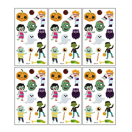 ttoo-Aufkleber, Totenköpfe, Spinne, wasserdicht, temporär, dekorativ, für Kinder, 12 Stück ()