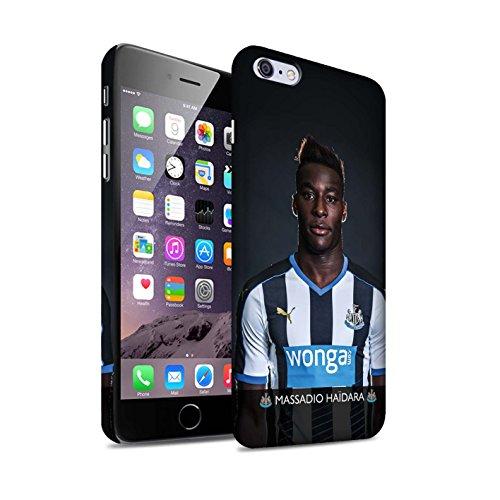 Offiziell Newcastle United FC Hülle / Matte Snap-On Case für Apple iPhone 6+/Plus 5.5 / Pack 25pcs Muster / NUFC Fussballspieler 15/16 Kollektion Haïdara