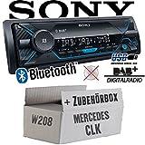 Mercedes CLK W208 - Autoradio Radio Sony DSX-A510BD - DAB+   Bluetooth   MP3/USB - Einbauzubehör - Einbauset