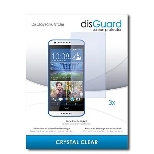 disGuard® Displayschutzfolie [Crystal Clear] kompatibel mit HTC Desire 620G Dual Sim [3 Stück] Kristallklar, Transparent, Unsichtbar, Extrem Kratzfest, Anti-Fingerabdruck - Panzerglas Folie, Schutzfolie