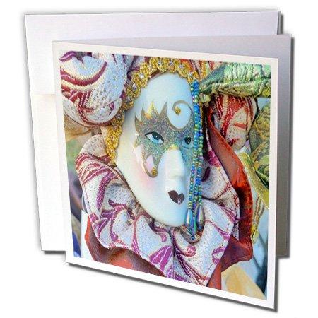 3drose Bild von Vintage Mardi Gras Maske-Grußkarten, 15,2x 15,2cm, Set 6(GC 174588_ 1)