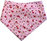 Spoilt Rotten Pets (S4 Vintage Rose, Pink Bandana. Groß Größe Allgemein passend für Rottweiler und St Bernard Große Hunde. Halsumfang 58,4cm to 71,1cm Gorgeous Reihe von Mustern und Farben.