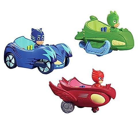New 3 Pieces PJ Masks Big Cars Toy Figures For Kids - Neue 3 Stück PJ Masks Big Cars Spielzeug Figuren Für