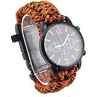 Fansport Überlebens Armbanduhr Notfallarmband Wasserdichte Praktische Luminous Watch für Outdoor