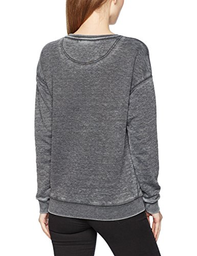 Scotch & Soda Maison Damen Sweatshirt Bright Colored Sweat in Burn Out Quality Grau (Antra Melange 0H)