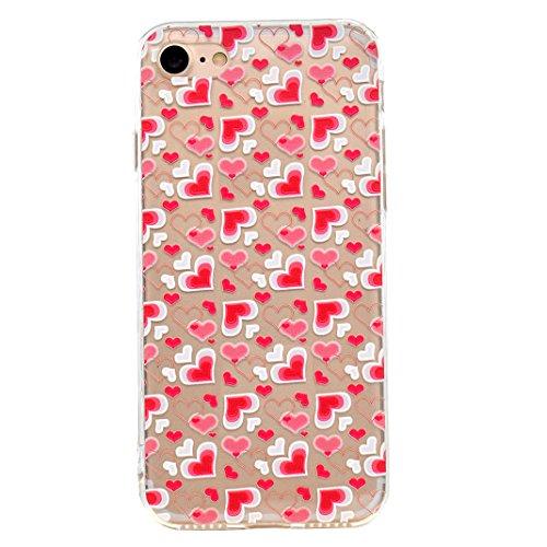 "Coque iPhone 6 Plus Silicone Housse,Etui iPhone 6S Plus Gel Transparente Case Cover Rosa Schleife® 5.5"" Apple iPhone 6 Plus TPU Silicone Gel Souple Case Coque de Protection Portable Smartphone pochett 59-style"
