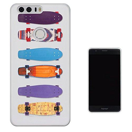 Preisvergleich Produktbild C01502 - Colourful Penny Boards Design Huawei Honor 8 Fashion Trend Silikon Hülle Schutzhülle Schutzcase Gel Rubber Silicone Hülle