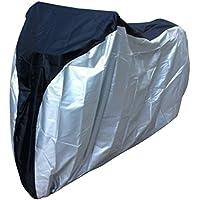 1 funda para bicicletas protectora UV de nailon resistente al agua a prueba de polvo., black silver, medium