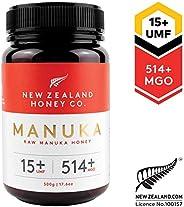 New Zealand Honey Co. Raw Manuka Honey UMF 15+   MGO 514+, 500g