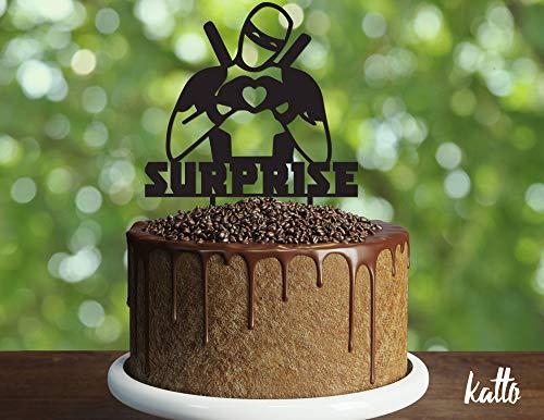 z Geburtstagstorte Silhouette Holz Tortenaufsatz Superhelden-Kuchen Superhelden-Party Superhelden-Dekoration Kinderparty Kuchen ()